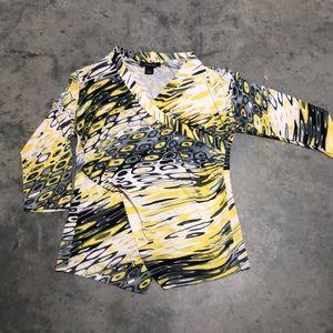 Faux wrap designer top
